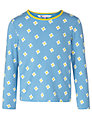 John Lewis Girl Flower Print Long Sleeve T-Shirt, Blue