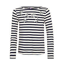 Buy John Lewis Girl Embellished Star Breton Long Sleeve T-Shirt Online at johnlewis.com