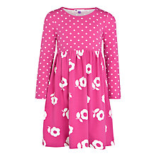 Buy John Lewis Girl Spot and Flower Dress, Pink/White Online at johnlewis.com