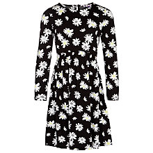Buy John Lewis Girl Floral Jersey Dress, Black Online at johnlewis.com