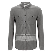 Buy Dockers Blanket Flannel Shirt, Carbon Heather Online at johnlewis.com