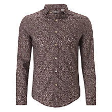 Buy Dockers Printed Pinpoint Oxford Shirt, Eggplant Online at johnlewis.com