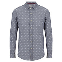 Buy Dockers Dobby Paisley Print Shirt, Navy Online at johnlewis.com