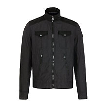 Buy BOSS Orange Odilac Harrington Jacket, Black Online at johnlewis.com