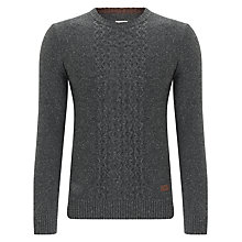 Buy Dockers Honeycomb Aran Jumper, Charcoal Heather Online at johnlewis.com