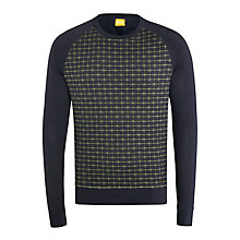 Buy BOSS Orange Wantos Sweatshirt, Navy Online at johnlewis.com