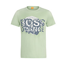 Buy BOSS Orange Talking Logo Cotton T-Shirt Online at johnlewis.com