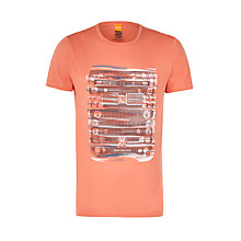 Buy BOSS Orange Talking 2 Car Grill Printed T-Shirt, Orange Online at johnlewis.com
