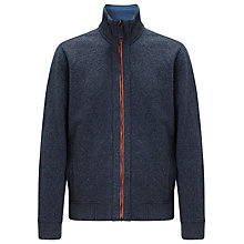 Buy BOSS Orange Zane Full Zip Top, Grey Online at johnlewis.com