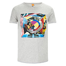 Buy BOSS Orange Tracing T-Shirt, Grey Online at johnlewis.com