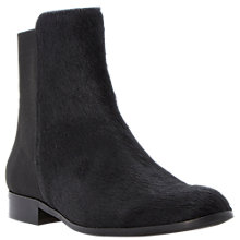 Buy Dune Black Padme Stretch Back Leather Ankle Boots Online at johnlewis.com