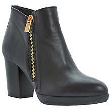 Buy Dune Black Ponto Leather High Heeled Ankle Boots, Black Online at johnlewis.com
