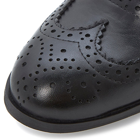 Buy Dune Black Helen Leather Brogues Online at johnlewis.com
