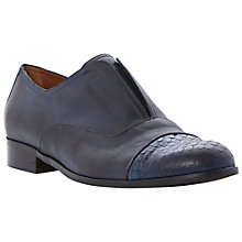 Buy Dune Black Henri Reptile Toe Cap Laceless Loafer Online at johnlewis.com
