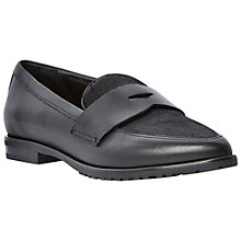 Buy Dune Black Hettie Pony Vamp Pointed Toe Leather Loafer Online at johnlewis.com