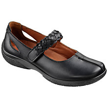 Buy Hotter Made in England Shake Adjustable Strap Leather Shoes, Black Online at johnlewis.com
