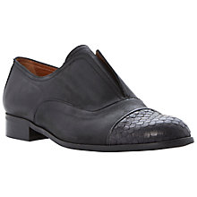Buy Dune Black Henri Reptile Toe Cap Laceless Leather Loafer Online at johnlewis.com