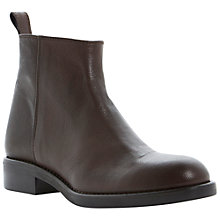 Buy Dune Black Philip Side Zip Leather Ankle Boots Online at johnlewis.com