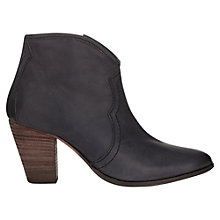 Buy Jigsaw Cara Leather Heeled Ankle Boots Online at johnlewis.com