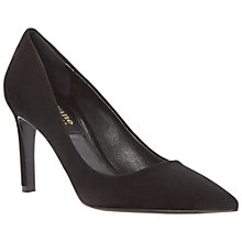 Buy Dune Black Amie Suede Court Shoes, Black Online at johnlewis.com
