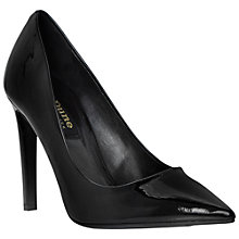 Buy Dune Black Amilie Leather High Heeled Courts, Black Online at johnlewis.com