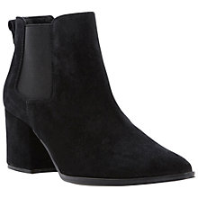 Buy Bertie Panola Pointy Toe Block Heel Suede Ankle Boots Online at johnlewis.com
