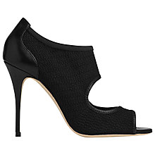 Buy L.K. Bennett Aisha Leather Open Toe Court Shoes, Black Online at johnlewis.com