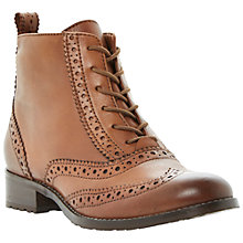 Buy Bertie Peron Leather Brogue Ankle Boots, Burgundy Online at johnlewis.com