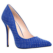 Buy Carvela Gun Studded Stiletto Heel Court Shoes, Blue Online at johnlewis.com