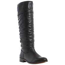 Buy Bertie Tiffin Long Leather Boots, Black Online at johnlewis.com