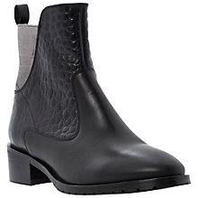 Buy Bertie Price Contrast Leather Ankle Boots, Black Online at johnlewis.com