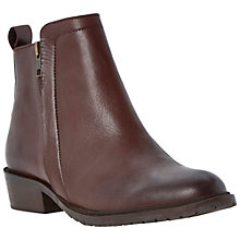 Buy Bertie Plott Zip Detail Leather Ankle Boots Online at johnlewis.com