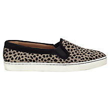 Buy Jigsaw Flora Leather Calf Hair Slip On Trainers Online at johnlewis.com