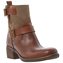Buy Bertie Portos Buckle Detail Leather Calf Boots, Tan Online at johnlewis.com