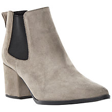 Buy Bertie Panola Pointy Toe Block Heel Suede Ankle Boots, Grey Online at johnlewis.com