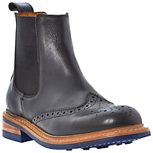Buy Bertie Perkin Chunky Leather Brogue Ankle Boots, Black Online at johnlewis.com