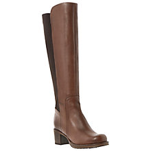 Buy Bertie Tara Long Leather Boots, Brown Online at johnlewis.com