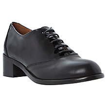 Buy Bertie Lotini Leather Patent Contrast Lace-Up Oxford Shoes, Black Online at johnlewis.com