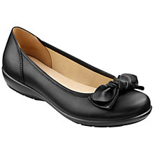 Buy Hotter Made in England Jewel Leather Ballerina Pumps, Black Online at johnlewis.com