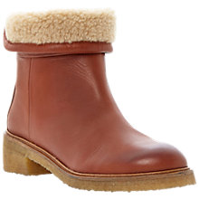 Buy Bertie Purley Lined Leather Ankle Boots, Tan Online at johnlewis.com