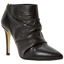 Buy Dune Black Anita Leather Stiletto Ankle Boots, Black Online at johnlewis.com