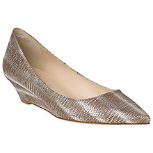 Buy L.K. Bennett Perla Leather Court Shoes, Silver Online at johnlewis.com