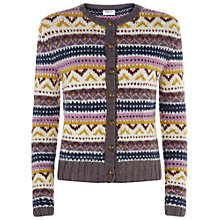 Buy People Tree Fair Isle Cardi, Multi Online at johnlewis.com