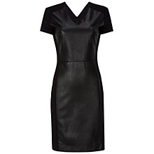 Buy Oui Pleather Panel Dress, Black Online at johnlewis.com