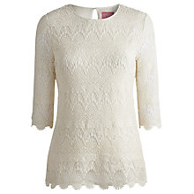 Buy Joules Lisbeth Top, Cream Online at johnlewis.com