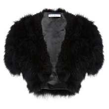 Buy Gina Bacconi Marabou Bolero Jacket, Black Online at johnlewis.com