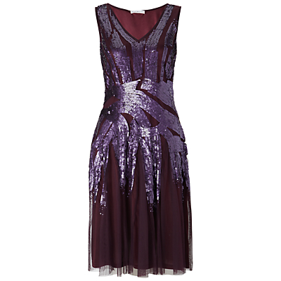 Gina Bacconi Beaded Dress, Plum