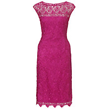 Buy Gina Bacconi Guipure Lace Dress, Fuchsia Online at johnlewis.com