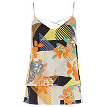 Buy Warehouse 80s Floral Double Layer Cami, Multi Online at johnlewis.com