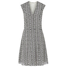 Buy Reiss Tia Print Silk Mini Dress, Prune Online at johnlewis.com